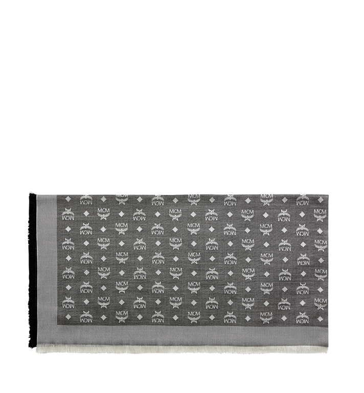 MCM Monogram Basic Jacquard Scarf Grey MEF7AMM01SS001 Alternate View 2