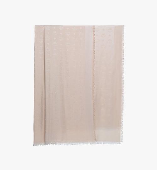 花押字圖案提花金屬條紋圍巾