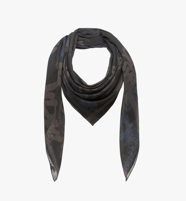 Allover Logo Print Scarf in Wool