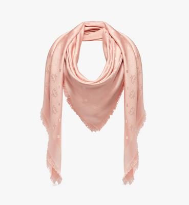 Classic Jacquard Square Scarf in Silk Wool