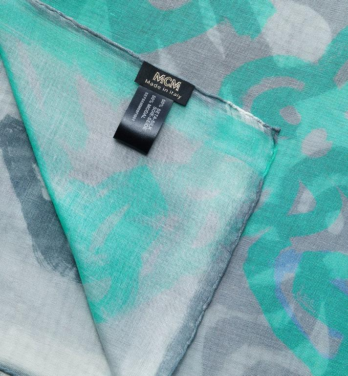 MCM Logo Print Shawl Blue MEF8AMM09FI001 Alternate View 2