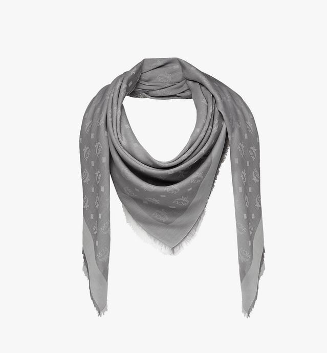 Lightweight Cotton Square Scarf in Silk Wool