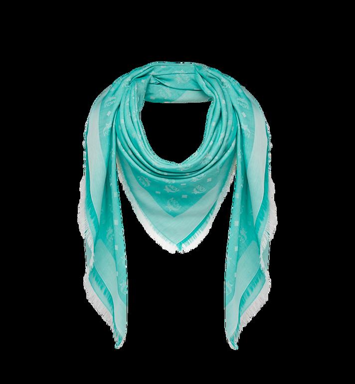 MCM Lightweight Cotton Square Scarf in Silk Wool Alternate View