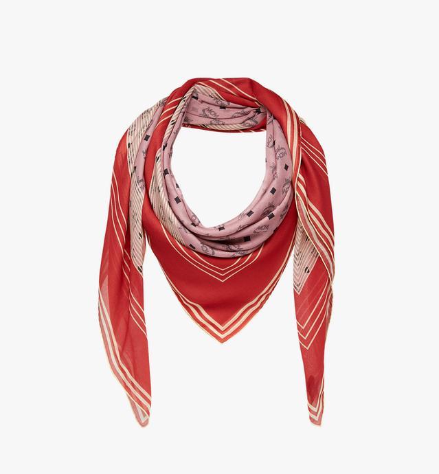 Visetos Stripe Square Scarf in Modal Silk