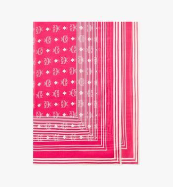 MCM 莫代爾絲質的 Visetos 條紋圍巾 Alternate View