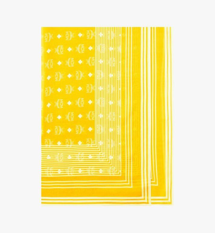 MCM Visetos Stripe Scarf in Modal Silk Alternate View