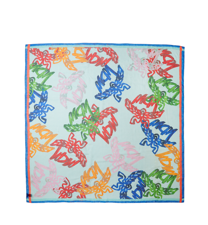 MCM Allover Logo Print Scarf in Modal Silk Alternate View 2