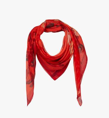 Écharpe logo imprimé en soie et modal sur l'ensemble
