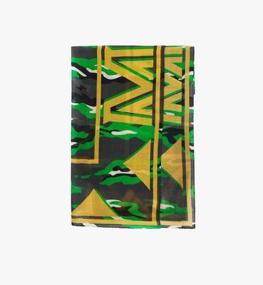Milano Camo Print Wool Shawl