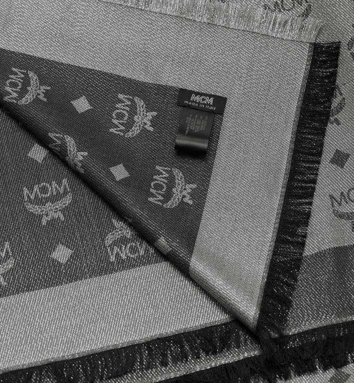 MCM 經典盧勒克絲金銀紗圍巾 Silver MEF9AMM02SV001 Alternate View 2