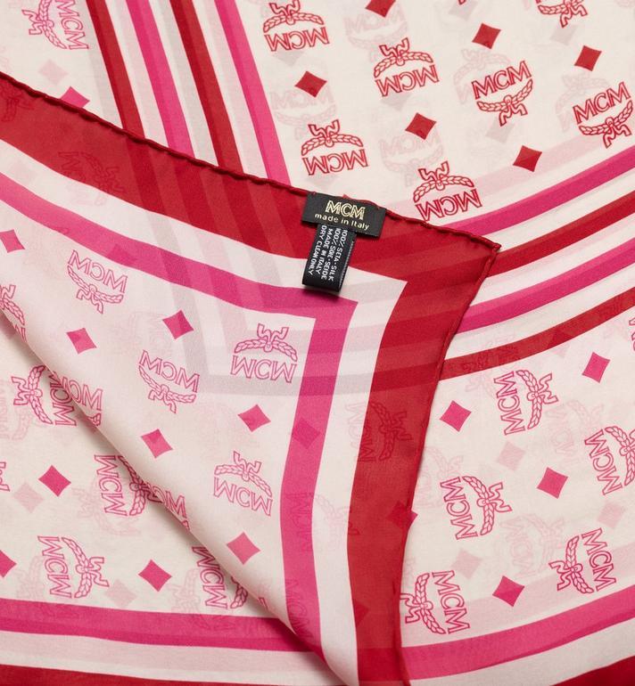 MCM Écharpe monogramme en mousseline de soie  MEF9AMM04QS001 Alternate View 2