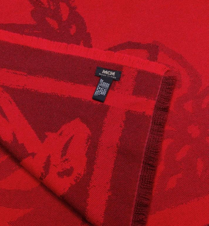 MCM Logo 提花圍巾 Red MEF9AMM05RU001 Alternate View 2