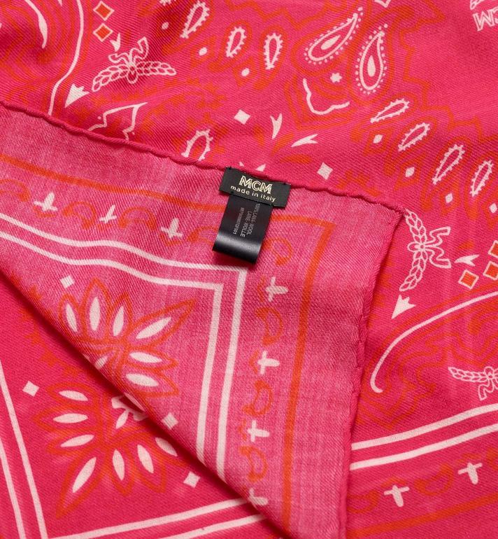 MCM Écharpe en laine imprimé cachemire  MEF9AMM07QF001 Alternate View 2