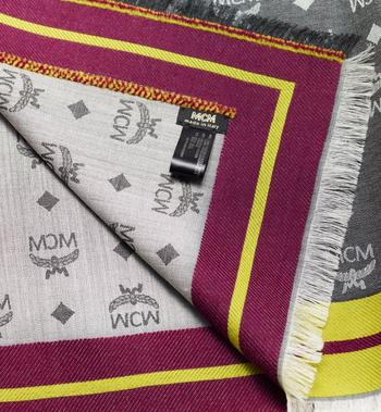 MCM Monogram Jacquard Border Scarf  MEF9AMM10EG001 Alternate View 2