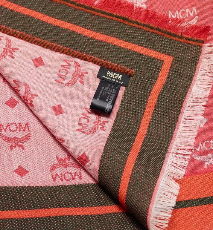 MCM Monogram Jacquard Border Scarf  MEF9AMM10QF001 Alternate View 2