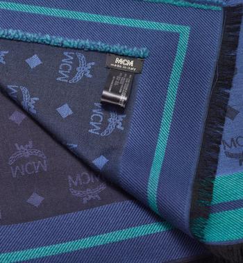 MCM Halstuch mit Monogramm und Jacquard-Rand  MEF9AMM10VS001 Alternate View 2