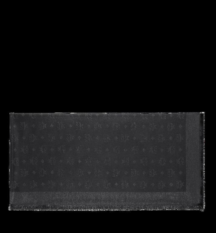MCM Monogram Lurex Scarf Black MEF9SMM02BI001 Alternate View 2