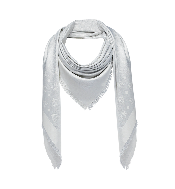 MCM Monogram Lurex Scarf White MEF9SMM02WT001 Alternate View 1