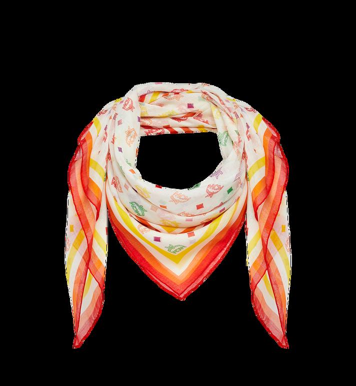 MCM Écharpe en soie et modal avec monogramme Alternate View