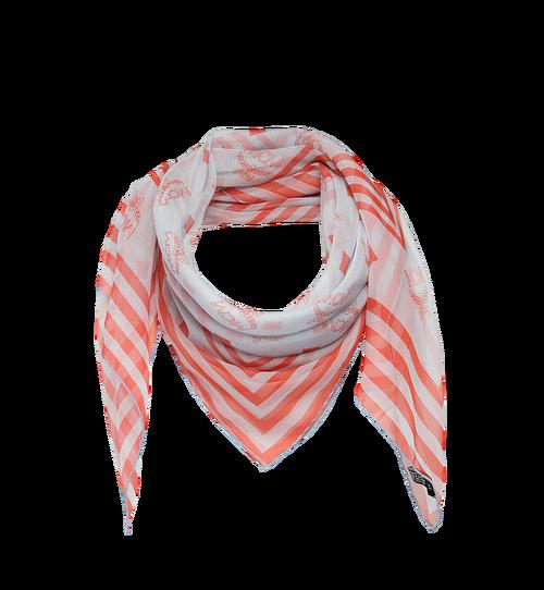 Seidenchiffon-Schal mit Monogramm
