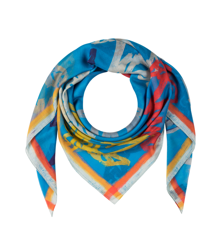 MCM Allover Logo Print Scarf Alternate View