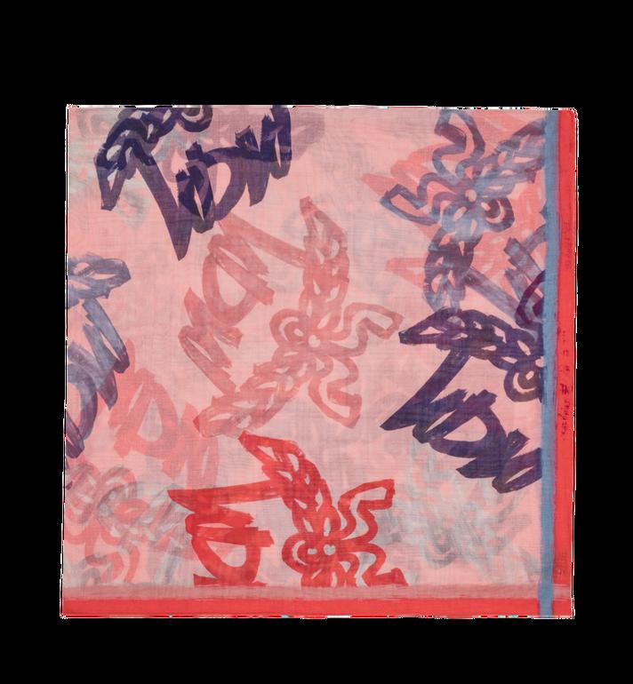 MCM Schal mit Komplett-Logo-Print Pink MEF9SMM09QB001 Alternate View 2
