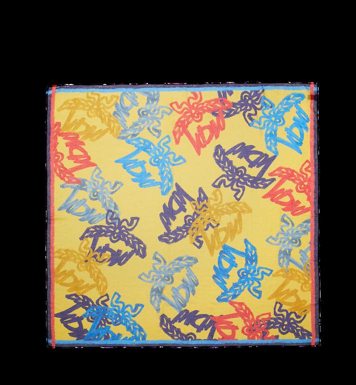 MCM Écharpe avec logo imprimé sur l'ensemble Yellow MEF9SMM09YZ001 Alternate View 2