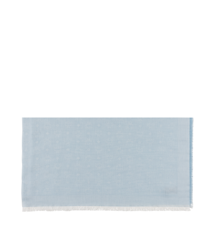 MCM Monogram Jacquard Cotton Scarf Grey MEF9SMM16FB001 Alternate View 2