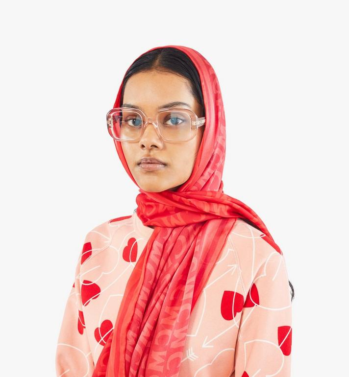 MCM MCM Monogram Rectangular Silk Shawl Red MEFAAMD02RU001 Alternate View 3