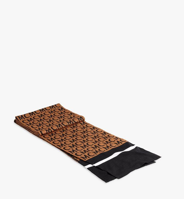 MCM MCM Monogram Wool Stole Brown MEFAAMD03C4001 Alternate View 2