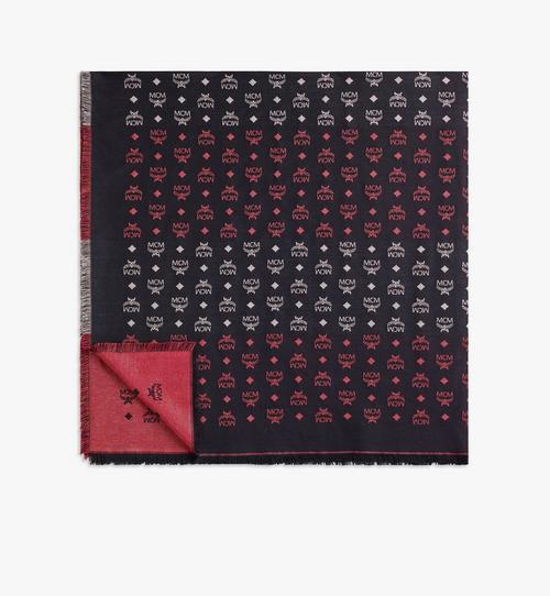 條紋花押字圖案 Lurex 圍巾