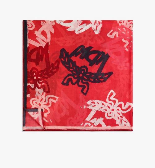 抽象花押字圖案羊毛圍巾