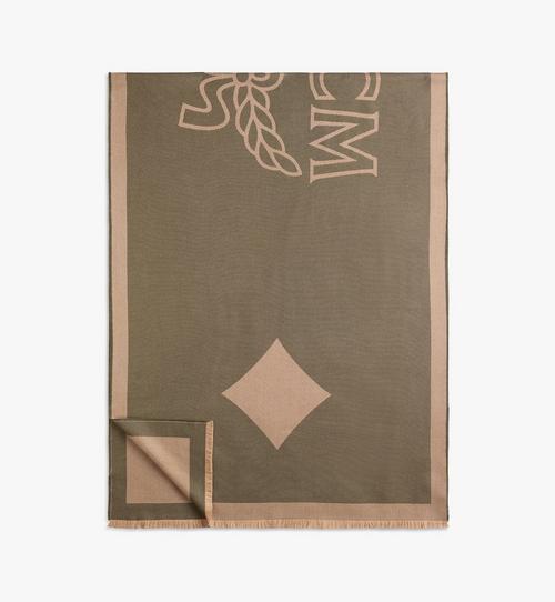 ผ้าพันคอวูลคลาสสิกพิมพ์ลายโลโก้