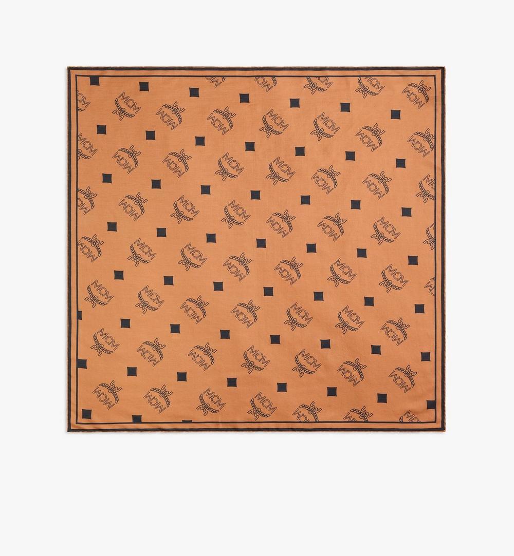 ผ้าพันคอโพกศีรษะพิมพ์ลายโมโนแกรม 1