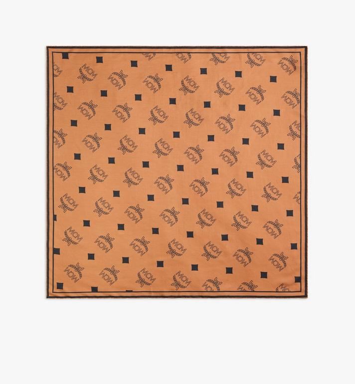 MCM Monogram Print Bandana Scarf Alternate View