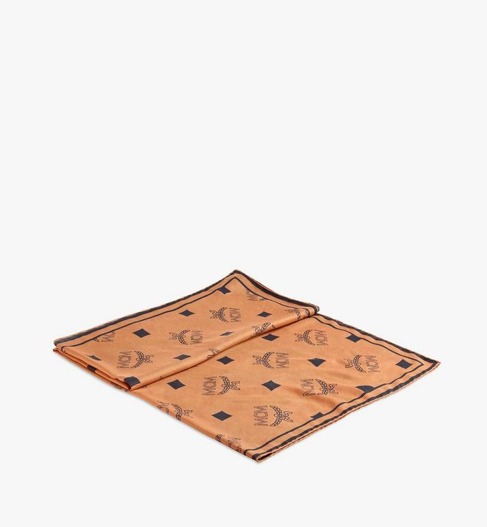 MCM Monogram Print Bandana Scarf Cognac MEFAAMM08CO001 Alternate View 2
