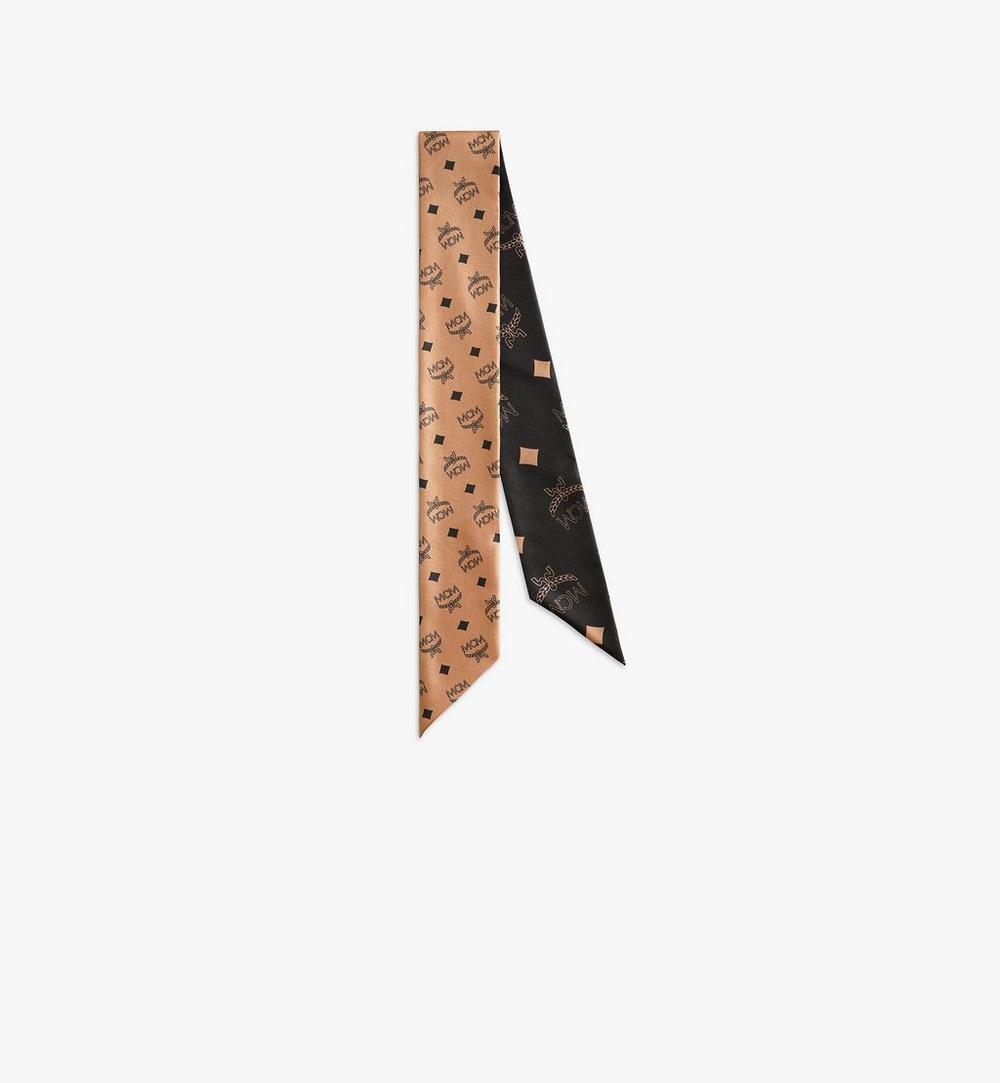 花押字圖案絲質斜紋圍巾 1