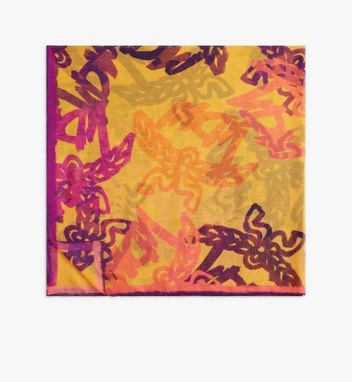抽象花押字圖案圍巾