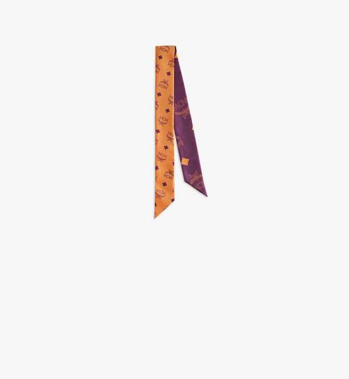 花押字圖案絲質斜紋圍巾