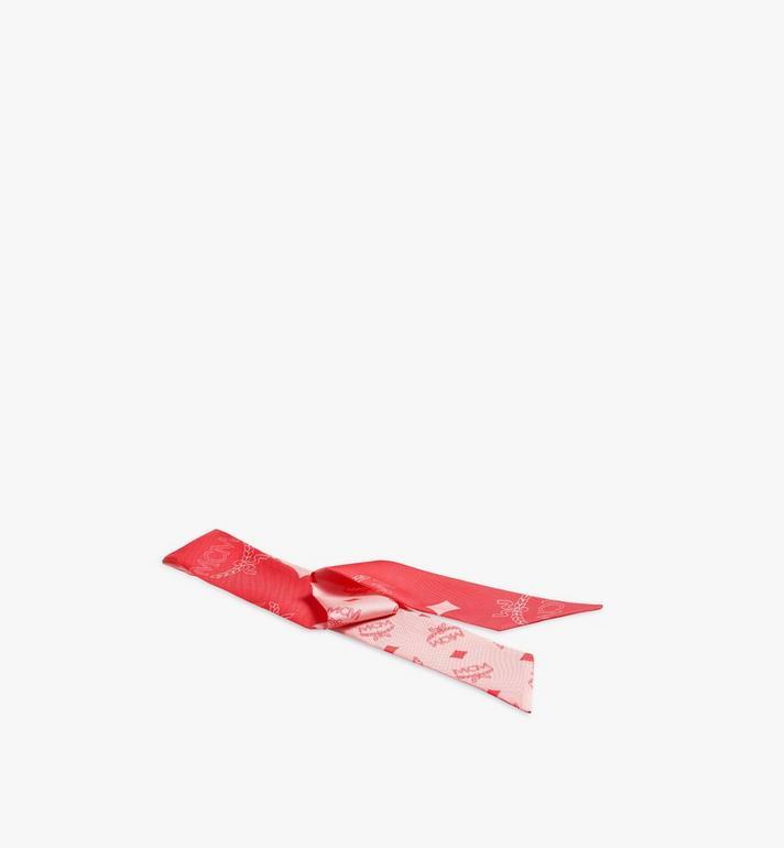 MCM Monogram Silk Twilly Scarf Pink MEFASMM05QK001 Alternate View 2