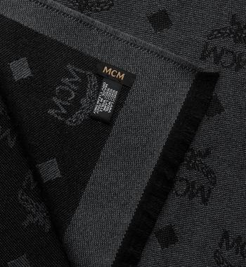 MCM Logo Print Wool Stole Black MEFASMM07BK001 Alternate View 2