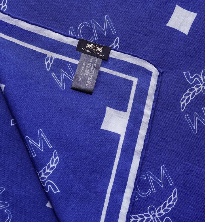 MCM Écharpe bandana Logo Print Blue MEFASMM12H1001 Alternate View 2