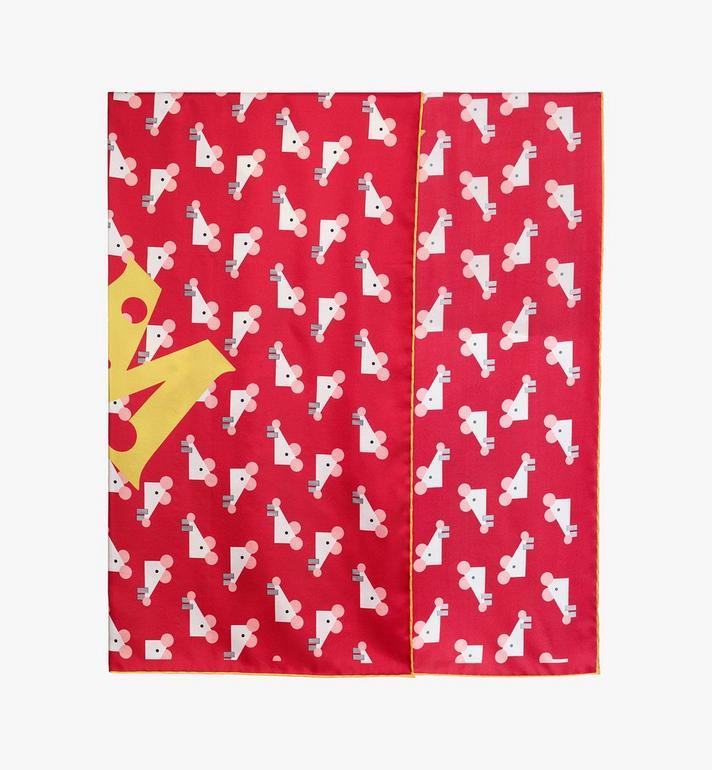 MCM 鼠年頭巾 Red MEFASSE01R4001 Alternate View 2