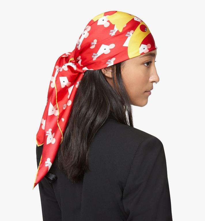 MCM 鼠年頭巾 Red MEFASSE01R4001 Alternate View 3