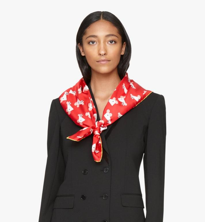 MCM Year Of The Mouse Bandana Scarf Red MEFASSE01R4001 Alternate View 4
