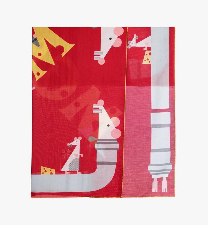 MCM 鼠年頭巾 Red MEFASSE02R4001 Alternate View 2