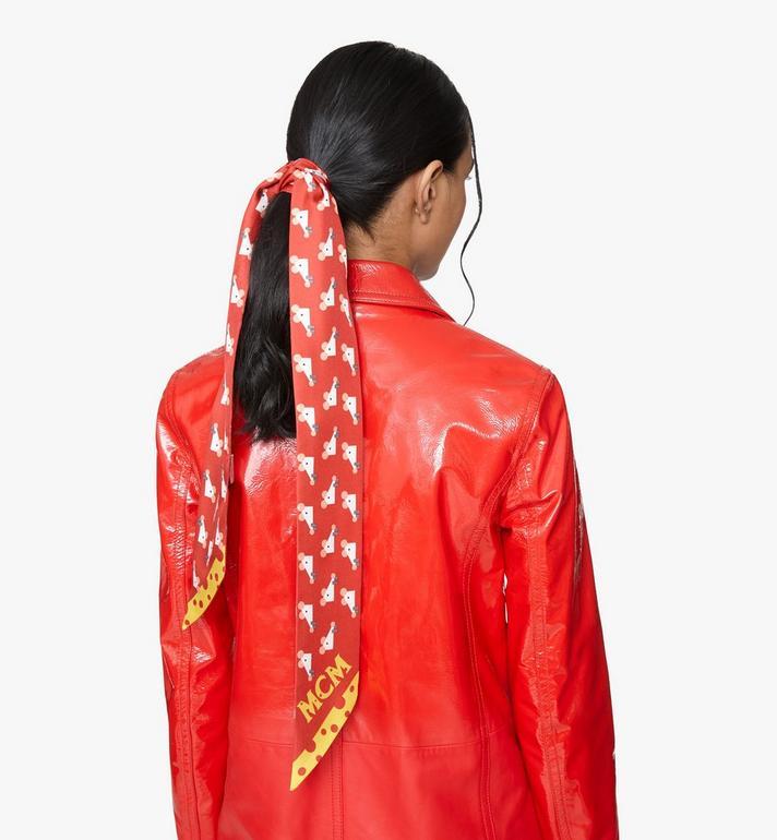 MCM New Year Silk Twilly Scarf Red MEFASSE04R4001 Alternate View 3