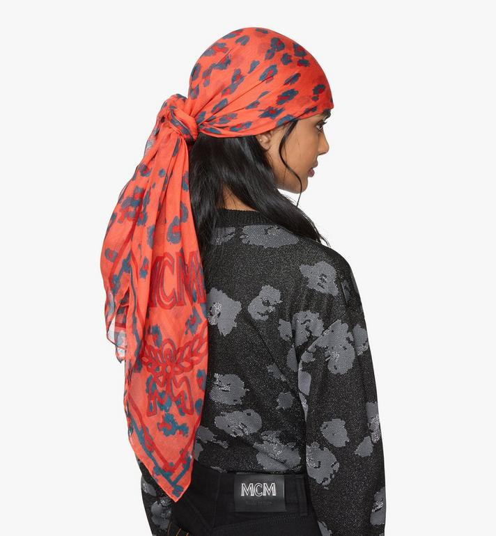 MCM Floral Leopard Shawl Orange MEFASSE06O3001 Alternate View 3
