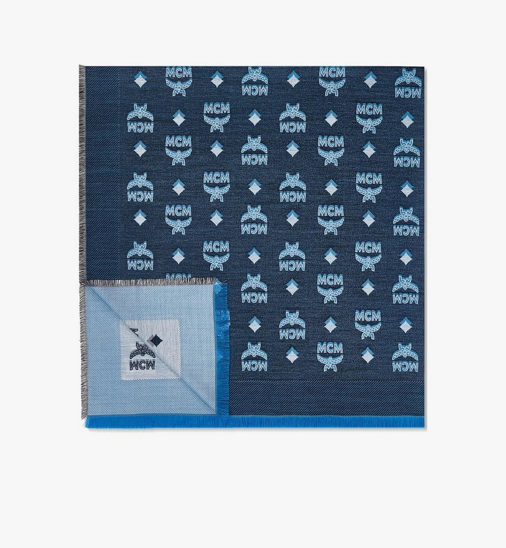 雙色提花縮寫字母圍巾 1