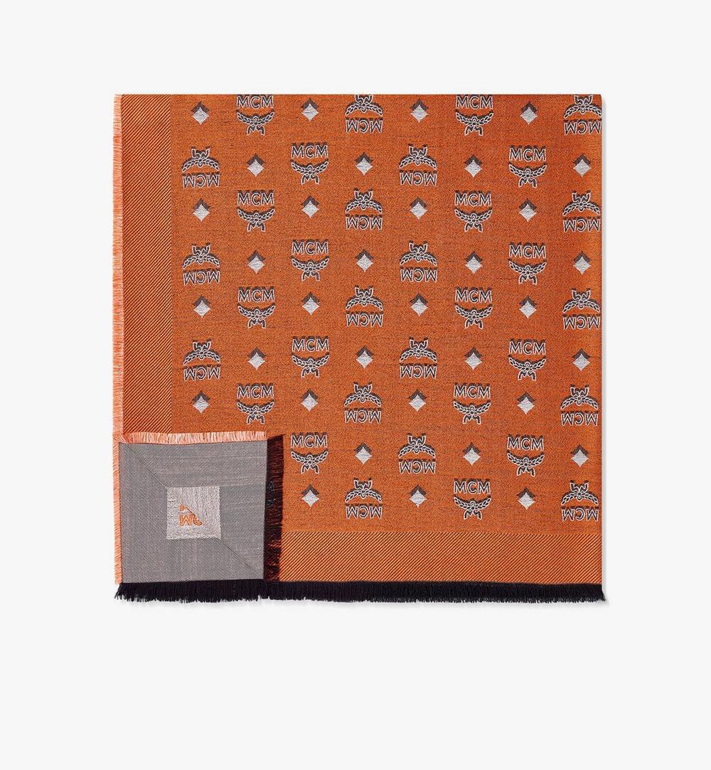 ผ้าพันคอโมโนแกรมแจ็คการ์ดสองสี 1